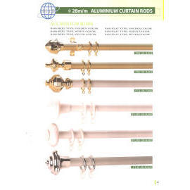DIA. 28MM ALUMINIUM CURTAIN RODS (DIA. 28mm АЛЮМИНИЙ КАРНИЗЫ ДЛЯ ШТОР)