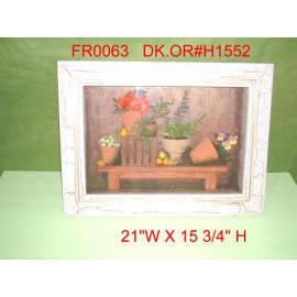 21``W X 15``H FLORAL SHADOW BOX (21``W X 15``H FLORAL SHADOW BOX)