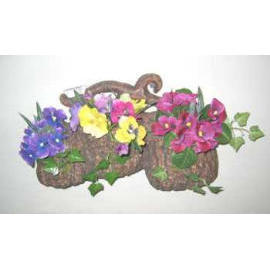 13`` PANSY WALL PLAQUE (13``анютины глазки WALL налета)