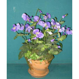 16``H PANSY IN POT (16``H PANSY EN POT)