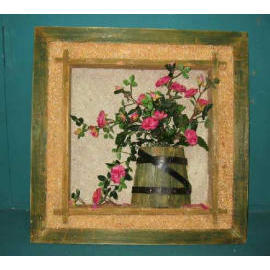20`` X 20``H POTTED ROSE SHADOW BOX (20``X 20``H горшках ROSE SHADOW BOX)
