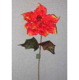 24``L VELVET POINSETTIA SPRAY (24``L VELVET Poinsettia SPRAY)