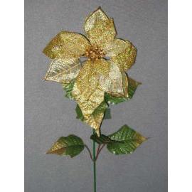 23``L POINSETTIA SPRAY (23``L Poinsettia SPRAY)