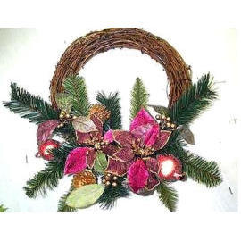 14`` POINSETTIA WREATH (14``POINSETTIA WREATH)