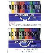Art & Craft: water color, oil paint, acrylic paint, each 6 cc, 12 cc