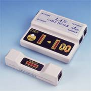 LAN cable tester for RJ-45/RJ11 cable series