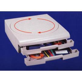 Drehteller mit 2 Dateien Trays (Drehteller mit 2 Dateien Trays)