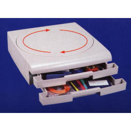 Turning plate with 2 files trays (Переходя пластина с 2 файлов поддоны)