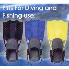 FINS FOR DIVING AND FISHING USE