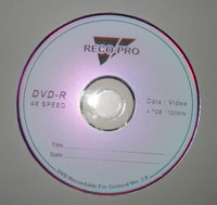 RECO-PRO DVD -RD 4X 4.7GB 120MIN (RECO-PRO DVD-RD 4X 4.7GB 120 мин)