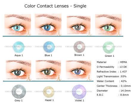 Color Contact Lens (Цветные контактные объектива)