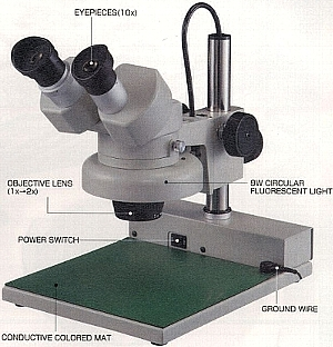 Illuminated Stereo Microscope (Освещенная Стерео микроскоп)