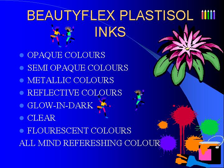 Phthalate Lead Free Plastisol Inks From Beautyflex [1993] (Фталат Ведущая свободной Пластизол чернила От Beautyflex [1993])
