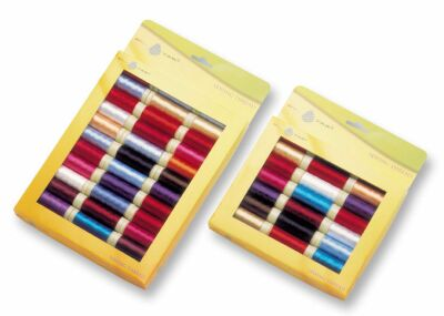 Sewing Thread Spools In Window Box For Retail Stores