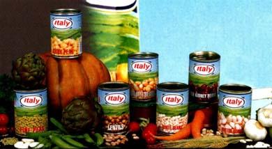 Italian Canned Vegetables And Legumes (Итальянский Консервированные овощи и бобовые)
