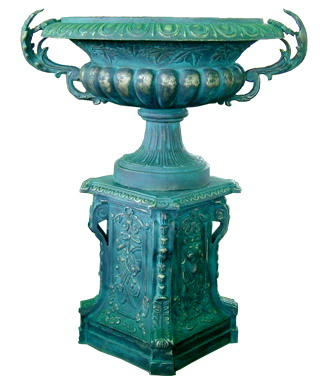 Cast Iron Flower Pot, Urn, Planter (Чугунные Горшок, URN, Planter)