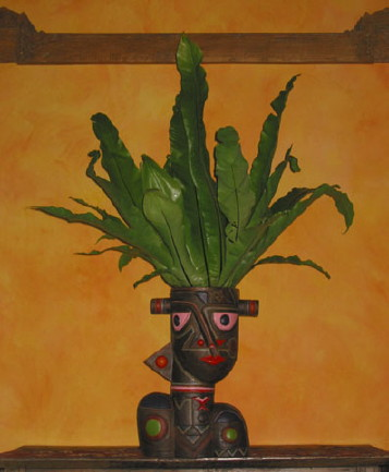 Terracotta Face Planter (Терракотовая F e Planter)