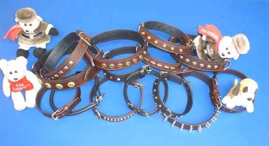 Leather Dog Collars & Leads (Кожа собак Ошейники & Leads)