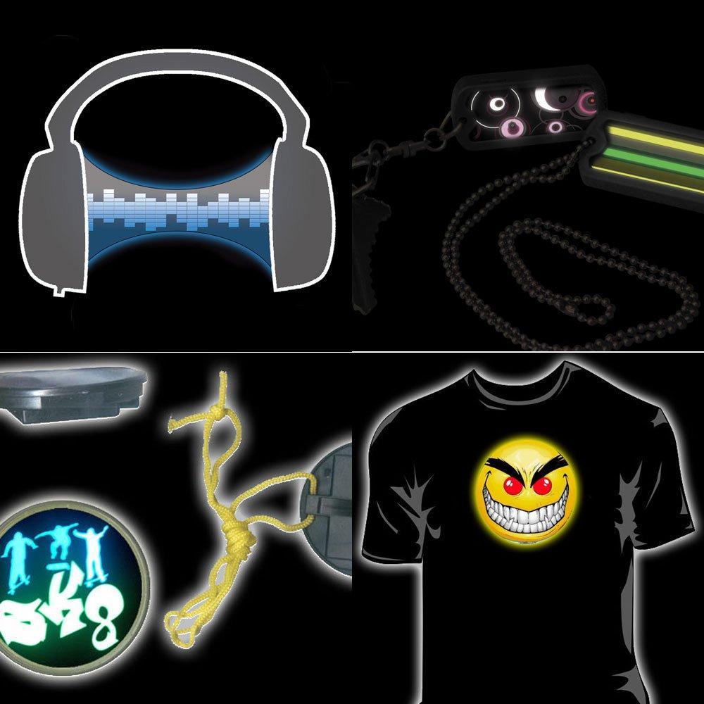 Electroluminecent EL Glowing Light Up T- Shirts (Electroluminecent EL Glowing Light футболки)