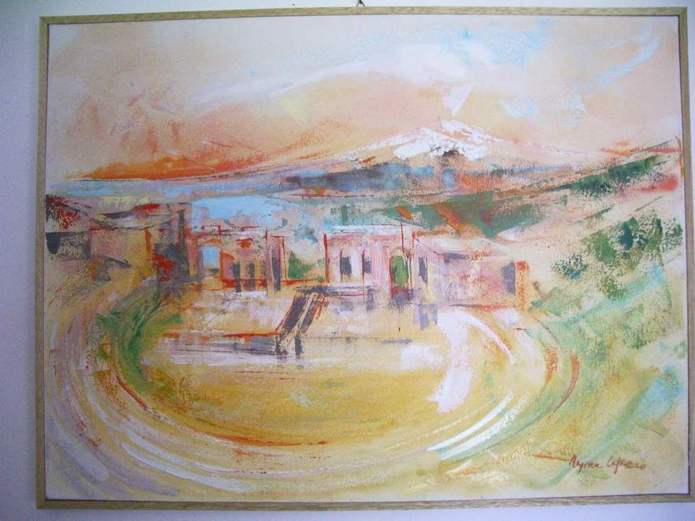 Italian Oil And Watercolors Paintings