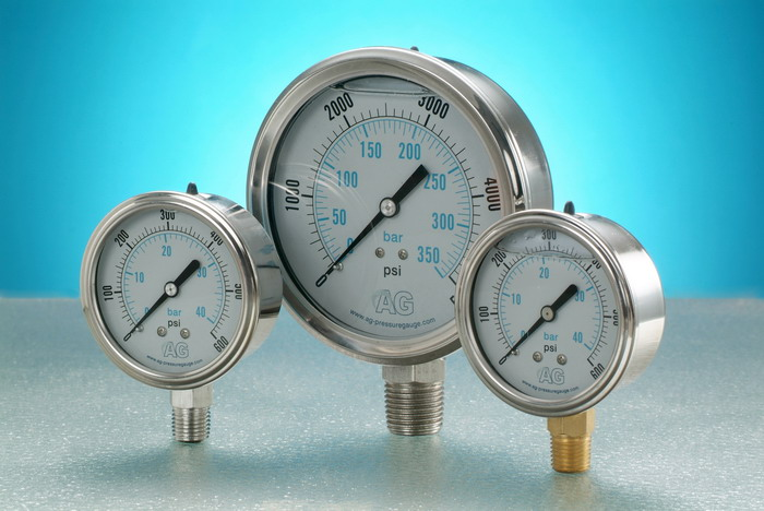 Liquid Filled Pressure Gauge With Roll Ring (Жидкие Заполненные манометр с Roll кольцо)