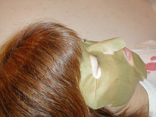 Green Tea Skin Care Aroma Moisturizing Face Mask