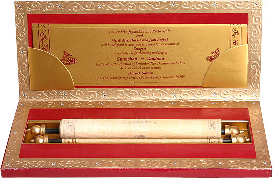 ... Wedding Invitation Cards ( Indian Traditional Wedding Invitation Cards