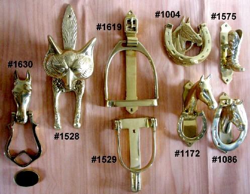 Horse / Equestrian Motif Door Knockers (Лошади / Конный Мотив Дверные молотки)