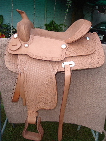 Western Leather Stamped Saddle (Western Leder gestanzt Sattel)