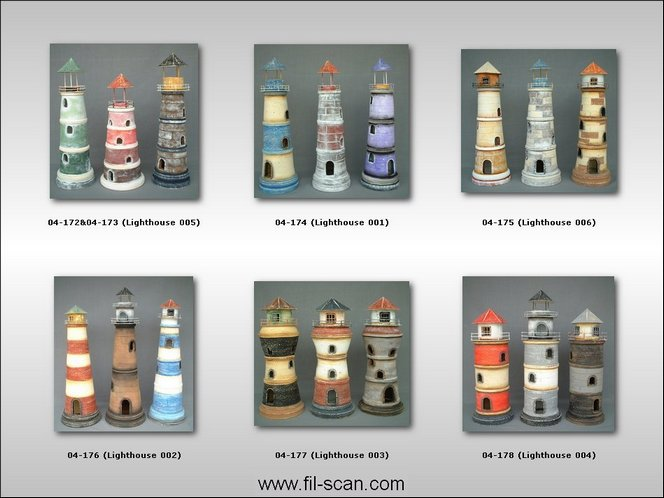 Lighthouse, Sea Decor, Clay Lighthouse, Pot Lighthouse (Маяк, Море Декор, Клей Маяк, горшка маяк)