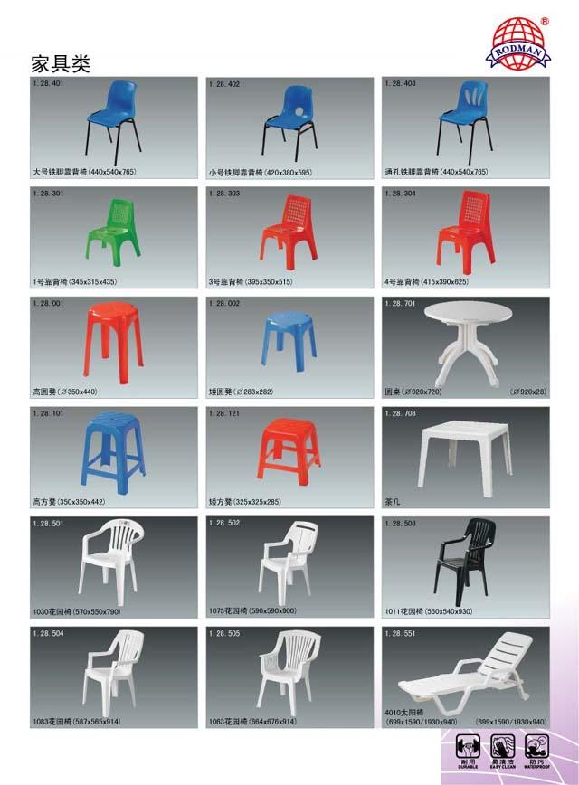 Модель. Гонконг. Пластиковая мебель Открытый