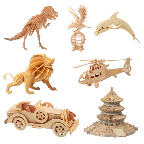 3D Puzzle Animal Wooden Toy (3D-Puzzle aus Holz Animal Toy)