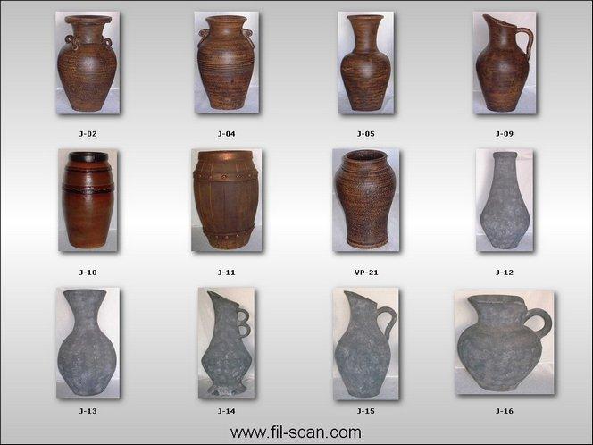 Jars, Urns, Vases, Pots Made Of Clay (Кувшинов, урны, вазы, горшки глиняная)