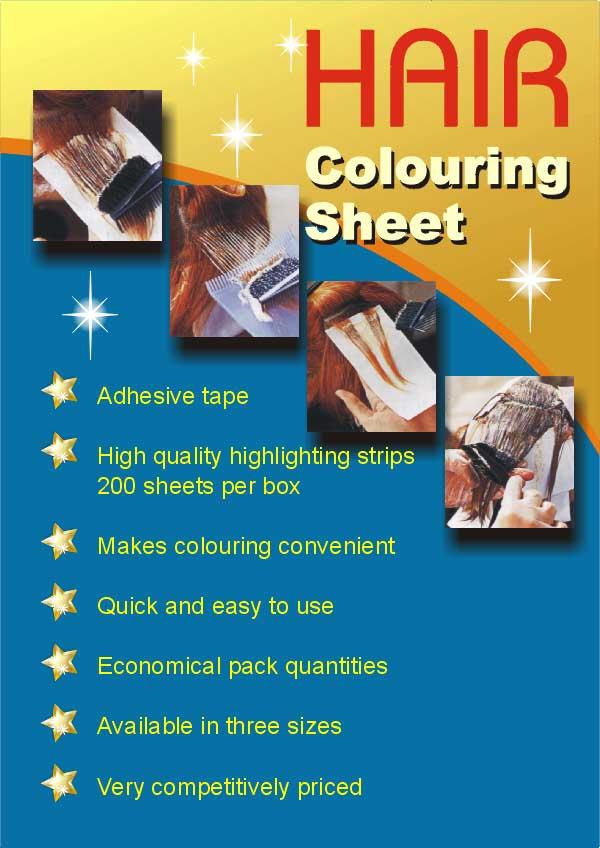 Hair Coloring Sheet (Волосы раскраска листа)