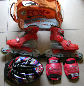 Adjustable In Line Skate Full Set