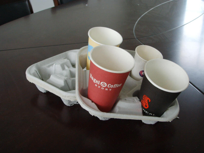 Molded Pulp Cup Carry Tray