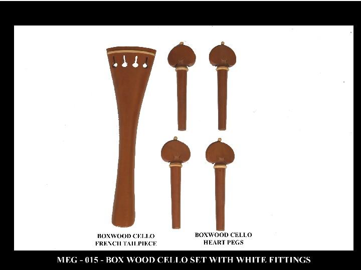 Boxwood Cello Set With White Fittings