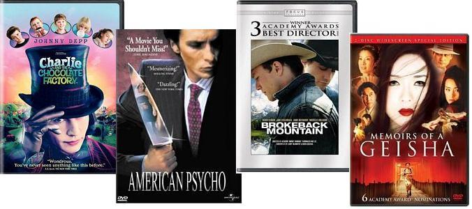 DVD Movies-Blockbuster Titles (DVD-Filme Blockbuster-Titel)