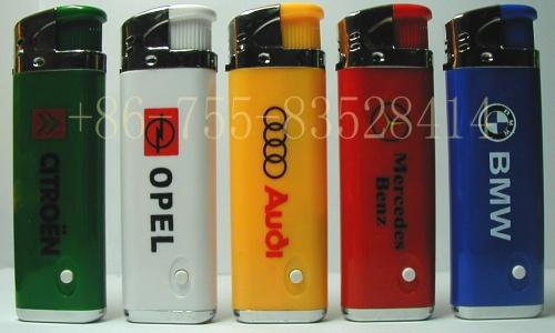 Electronic Gas Lighter With LED Lamp (Электронные газовой зажигалки со светодиодной лампой)