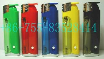 ELectronic Gas Lighter With LED Lamp (Электронный газ зажигалка со светодиодной лампой)