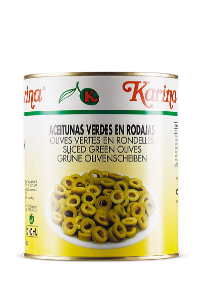 Sliced Green Olives - Aceitunas Karina (Ломтики Зеленая гора - Aceitunas Карина)
