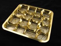 Gold Plated PVC Chocolate Blister Tray (Позолоченный ПВХ Шоколад блистер лоток)