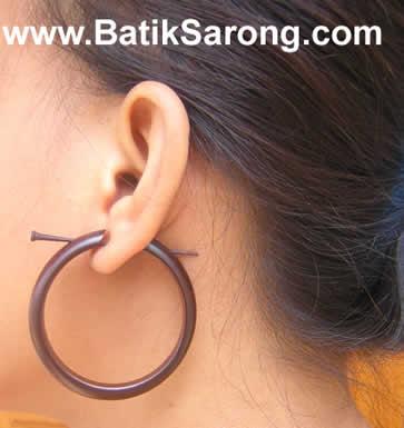 Wood Earring (Holz Ohrring)
