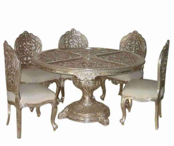 Silver Dining Set (Silver Furniture) (Серебро Dining Set (серебро мебели))
