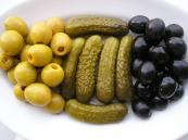 Gherkins, Olives, Silverskin Onions, Capers, Baby Corns (Корнишоны, оливки, пленка лук, каперсы, Baby мозоли)
