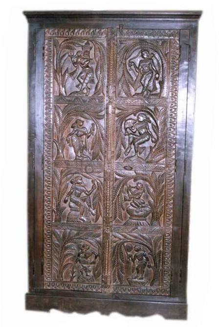 Antique Carved Armoire (Antique Reproduction Furniture) (Античные резные Armoire (антикварная мебель воспроизведение))