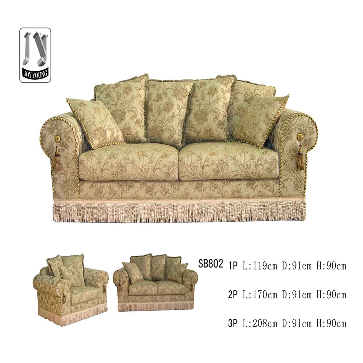 Charmant Elegant Fabric Sofa (Элегантные ткани Диван) · Zoom In