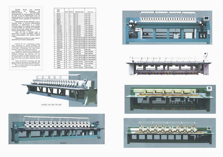Ralian Embroidery Machine (Ralian вышивальная машина)