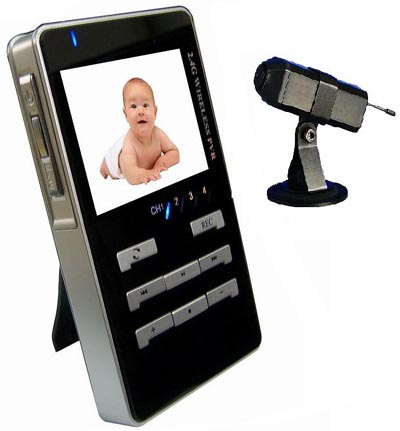 Wireless Camera And Baby Monitor With MPEG4 Record (Беспроводная камера и Радионяня с MPEG4 Запись)
