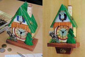 DIY Paper Clock Model (DIY бумаги Часы модель)